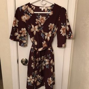 Floral fall boutique dress